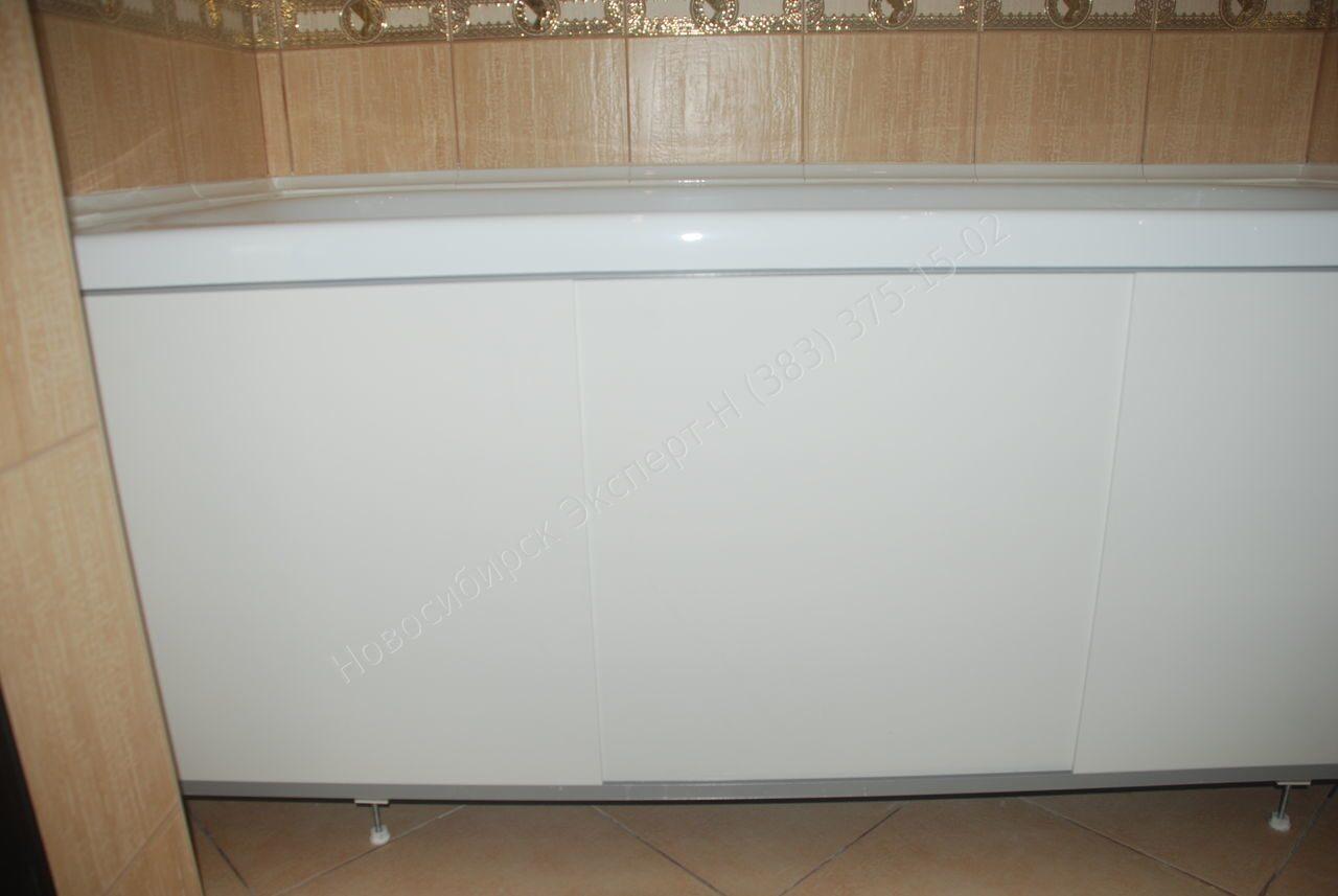 Экран над ванной раздвижной фото