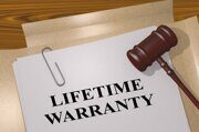 LIFETIME WARRANTY - commercial concept